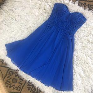 MORI LEE sweetheart strapless short dress